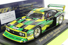 FLY A143L FORD CAPRI RS TURBO NUBURGRING NEW 1/32 SLOT CAR W/ HEAD & TAILLIGHTS