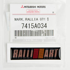 Genuine Mitsubishi Motors Ralliart Emblem 67 X 16mm Part# 7415A034 Made in Japan