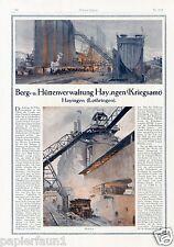 Bergwerk Hütte Hayingen Lothringen Reklame 1918 Historie Grube Ad mine Kriegsamt
