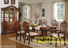 Royal Traditional Comfort Cushion seat Dining Chairs Cherry finish Furniture
