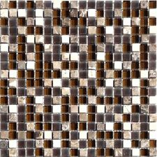 Glassteinmosaik Braun Cream Mix 15 Mosaik Bad Fliesen Granit Kiesel Sanitär