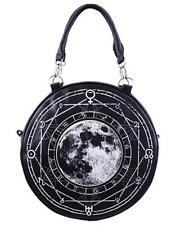 Luna Full Moon Round Hand Bag Purse Gothic Punk Alternative Psychobilly Grunge