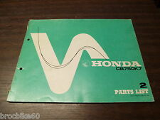 PARTS LIST HONDA CB 750 FOUR K7 1977 -  listing de pieces détachées CB750F