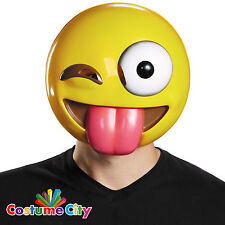 Tongue Out Winking Emoji Emoticon Mask Fancy Dress Party Costume Accessory