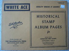 "1976-1979 WHITE ACE STAMP ALBUM SUPPLEMENT "" MIG-6 "" USA BIRD HUNTING SINGLES"