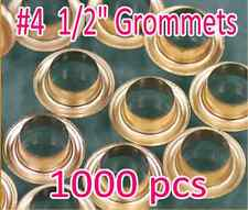 "1000 #4 1/2"" Grommet and Washer Eyelet Grommets Machine Sign Punch Tool Banner"