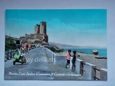 ROSETO CAPO SPULICO castello Vespa Piaggio Cosenza vecchia cartolina