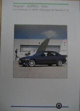 Prospekt original BMW ALPINA Teile 3er E36  06/93  incl. Preise CHF