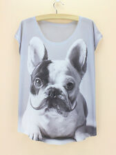 French Bulldog Women's T-shirt Ladies Printed Dog Tee