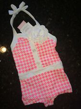 NEW Janie And Jack 6-12m Swim suit Vintage Bathing Suit Shimmer Silver NWT
