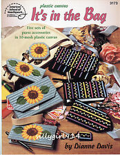 """IT'S IN THE BAG""~Plastic Canvas PATTERN BOOK~5 Sets Purse Accessories ~SEE PICS"