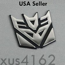 3D Chrome Decepticon 2 Inch Transformers Emblem Badge Decal Car Stickers Truck