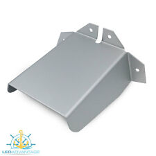 LARGE 130MM MARINE ALUMINIUM TRANSOM TRANSDUCER/BILGE/PUMP SPRAY DEFLECTOR COVER