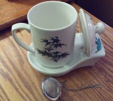 Dr. Lee's Tea For Health Steeper with Mug, Lid, Tray and Tea ball included.
