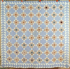 OUTSTANDING Vintage 1880's Texas Star Antique Quilt ~NICE FLYING GEESE BORDER!