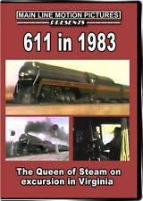 611 in 1983 The Queen of Steam on Excursion in Virginia DVD J Class N&W video