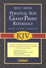 KJV Personal-Size Giant-Print Reference Bible---imitation  leather, burgundy