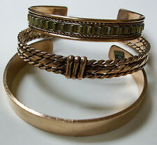 3 pieces  AUTHENTIC 100% pure COPPER BRACELET ARTHRITIS Trendy Design - INDIA