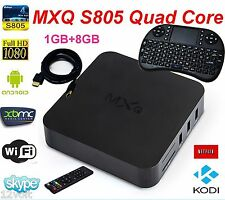 MXQ S805 Smart TV BOX Android XBMC Quad Core 8GB 1080P 4K Media Player+ Keyboard