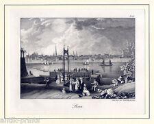 Bonn - seltene Kreidelithographie bei Orell Füssli um 1840