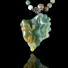 Carved Ocean Jasper Frog Necklace DB316002