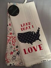 NEW Cynthia Rowley Patriotic 4th of July Land That I Love Kitchen Tea Towels