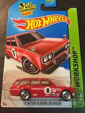 Hot Wheels CUSTOM 71 Datsun Bluebird Wagon with Real Riders