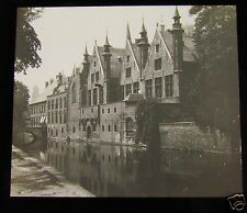 Glass Magic Lantern Slide PALAIS DE FRANCE BRUGE C1910 BELGIUM