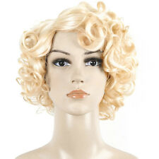 Fashion Womens Sexy Short Blond Curly Wig Party Hair Full Wigs