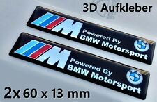 2x ///M Powered By BMW Motorsport  3D Logo Aufkleber-Abzeichen Set M1 M3 M5 M6 X