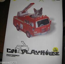 Suck UK Cat Playhouse Flat Pack Cardboard Red Fire Engine Truck Fireman NIB