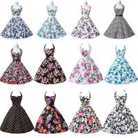 NEW VINTAGE RETRO FIFTIES 50's STYLE FULL CIRCLE SWING PIN UP DRESS FLORAL DRESS