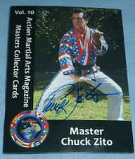 Master Chuck Zito Signed Rare Martial Arts Magazine Collectors Card Autograph Oz