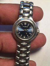 Nice Ladies Blue Face Bell Saint Analog Watch