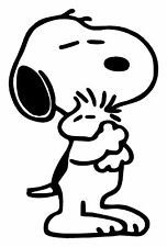 Peanuts Snoopy & Woodstock Hug Vinyl Decal Sticker