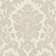 Nuevo Grandeco Kensington Damasco Crema De Lujo Brillo Wallpaper Oro v416-04