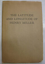 Booklet Poem Latitude Longitude Henry Miller Poetic marathon Press 1st Ed. 1962