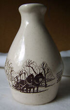 Handmade Stoneware Maple Syrup Jug / Turkey Hill Farm / Brome Quebec 3729