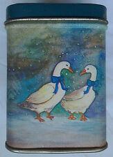 Blue Decorative Tin With Goose Motif