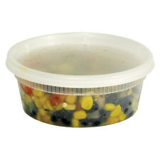 240 count Plastic Deli Food Container 8 oz DeliTainer with Lids