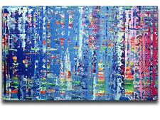 XXL Malerei 150x90 cm im Stil von Gerhard Richter Abstrakte Kunst Art Painting