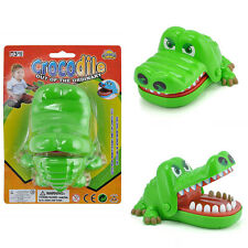 Cute Green Crocodile Mouth Dentist Bite Finger Toy Family Game For Kid Xmas Gift