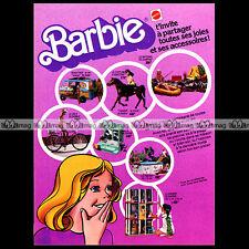 Mattel Vintage BARBIE Beach Bus, Camping, Vélo.. 1976 Pub / Publicité / Ad #A173