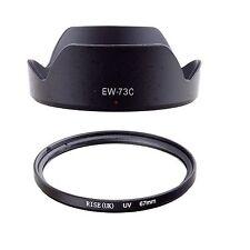 FOR Canon EF-S 10-18mm f/4.5-5.6 IS STM Lens 67MM UV Filter + EW-73C Hood QUANLI