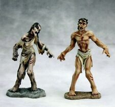 George & Gracie Zombies Reaper Miniatures Dark Heaven Legends RPG Undead Melee