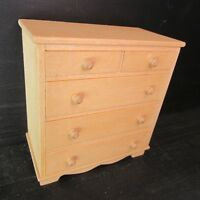 Chest of Drawers ~ WOODEN ~ Dolls House Miniature ~ 1/12 scale
