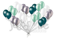 24pc Teal & Seafoam Latex Balloons Party Decoration Baby Shower Wedding Birthday