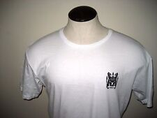 RVCA  Mens Crew neck Lions Gate Logo Tee Shirt Size Large White Black Free Ship
