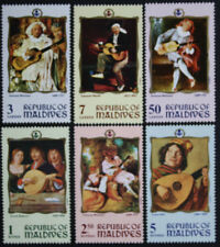 Maldive Islands 1969 Famous Guitar Paintings SG335/40 MNH/UM cat value £13