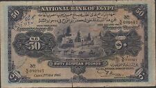 Egypt  50 Pounds  2.5.1945  P 15c  Prefix N/8 Circulated Banknote Rare